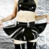 Latex circle mini skirt