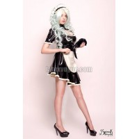 Latex circle skirt with frill