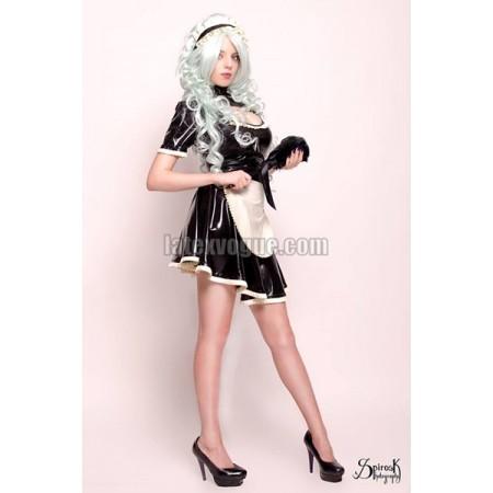Latex circle skirt with frill