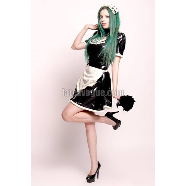 Latex French Maid Costume