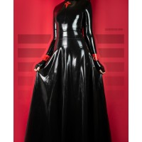 Long latex flared skirt - TESS