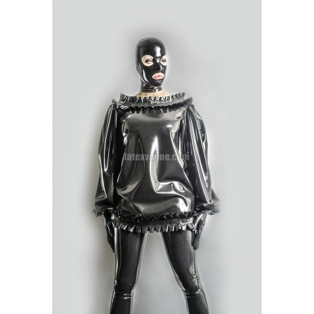Latex nightdress with long loose sleeves