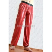 Latex jogging pants