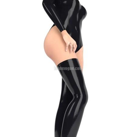 Jednobarevné latexové punčochy bez chodidla