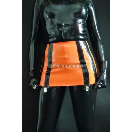 Massive latex 12-strap suspender belt (SA-BEL02)