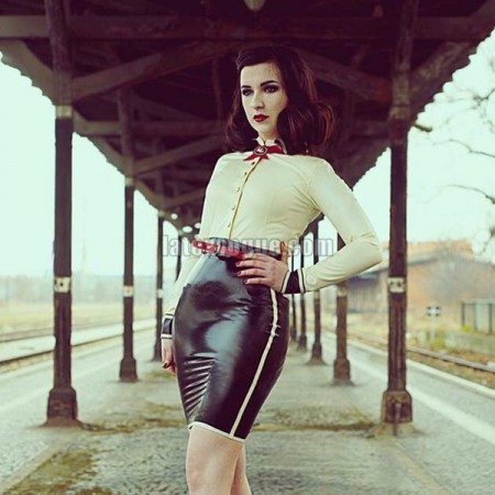 Latex skirt Hollywood 1940
