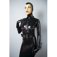 Latex blouse with french cuffs - ALICE