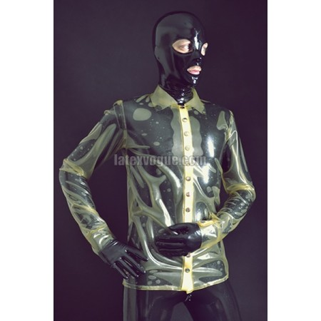 Latex blouse with long sleeves