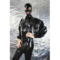 Latex blouse with long loose sleeves
