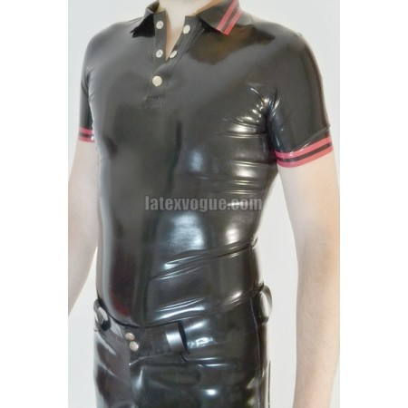 Latex polo shirt