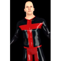 Latex T-shirt with long sleeves - ALASSEO