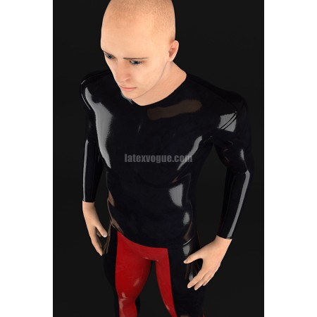 Male latex shirt with long sleeves