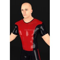 Latex double-color T-shirt with short sleeves - FEON