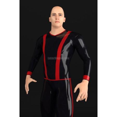 Latexové tričko s vertikálními pruhy a dlouhým rukávem - ERUNIS