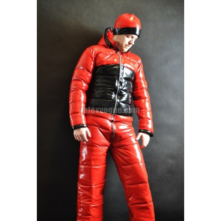 Winter warm latex pants with zippers